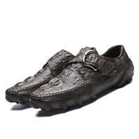0ea73cb34c0 Mens Real leather Shoes slip on loafer driving moccasins Casual Shoes  Gommino