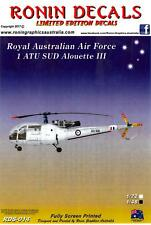 Ronin Decals 1/48 SUD ALOUETTE III Helicopter Royal Australian Air Force