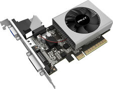 PNY - VERTO NVIDIA GeForce GT 710 1GB DDR3 PCI Express 2.0 Graphics Card - Black