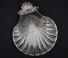 Vintage Sheffield English Scalloped Half Shell Silver Plated Dish Repro Made USA