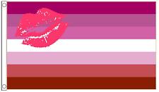 Lipstick Lesbian Gay Pride Festival 5ft x3ft (150cm x 90cm) Flag