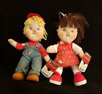 """Plush Campbell's Boy & Girl Dolls Campbell's Kids 100-Year Celebration 9"""" NWT》"""