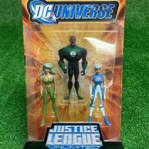 2008 DC Universe Justice League Unlimited 3-Pack Fire Green Lantern Ice Figures