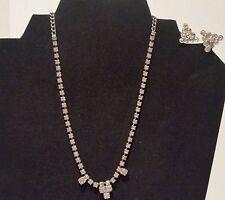 Rhinestone Lot, Vintage Choker, and vintage collar clips