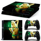 Sony PS4 Playstation 4 Skin Design Aufkleber Schutzfolie Set - Cannabis Girl