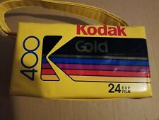 - VTG Kodak Gold 400 Kodacolor Print Film Vinyl Cooler Adjustable Straps!