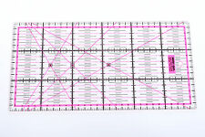 Pinkes Patchwork Lineal 30x15cm mit Zentimeterraster