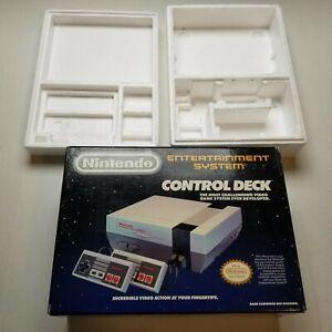 Vtg 1988 Nintendo NES Console Box Only Styrofoam Video Game Japan 80s