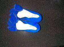 Miss KG Kurt Geiger blue platform heels unworn size 4 bow suede
