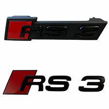 PAKET Emblem Schwarz Kühlergrill + Heck Original Audi Black Edition RS3 8P 8V