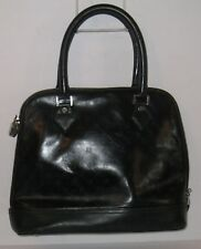 BROOKS BROTHERS Black Leather Golden Fleece Embossed Domed Satchel  Retail $368