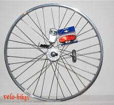 Vorderrad Nabendynamo,Fahrrad  HK 28 Zoll, silber Felge Scheinwerfer Rücklicht