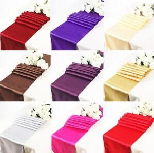 5 10 Bulk Satin Sequin Hessian Table Runners Cloth Party Wedding Event Sash