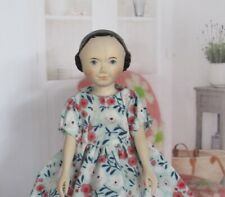 """Sweet Hitty Caroline 6.25"""" Hand Carved Peg Jointed Wood Doll by Nong & Holly"""