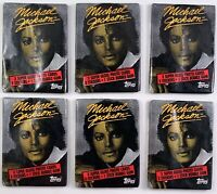 "Topps 6 Unopened Packs of 1984 Michael Jackson Series 1 Trading Cards ""RARE"""