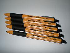 5x Stabilo pointball schwarz 6030/46 Druck-Kugelschreiber Kuli 0,5mm nachfüllbar