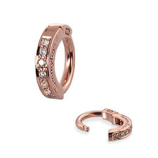 TummyToys 14K Solid Rose Gold Pave Set Natural Diamond Belly Button Ring