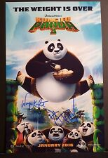 "KUNG FU PANDA 3 - Cast(x2) Authentic Hand-Signed ""DUSTIN HOFFMAN"" 11x17 Photo"