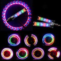 4PCS Bicycle Wheel Tire Valve Spoke 32 Changes Neon Cap 5 LED Lights Lamp SET CN
