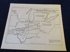 Vtg Railroad Territories Route Map No.11 St. Paul MN Central Freight Assoc R627