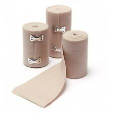 """TEN (10) ELASTIC ACE STYLE BANDAGE 4""""x 4.5yds WOVEN WITH CLIPS"""