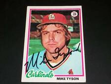 Cardinals Mike Tyson Auto Signed 1978 Topps #111 JSA C