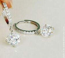 Colgantes En Plata Diamante Estilo pendientes como Anillo De Diamante