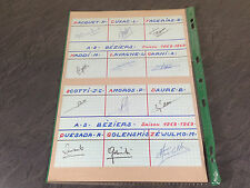 AS BEZIERS FOOT FOOTBALL SOCCER  1968 / 69