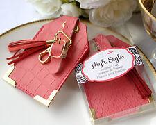 High Style Luggage Tag Bridal Shower Wedding Favor