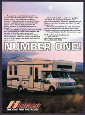 "1980 Monaco Mini Motorhome photo ""Number One Seller!"" promo print ad"
