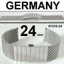 STAIB Milaneseband Milanaiseband Uhrenarmband 24 mm Edelstahl POLIERT #1310-24