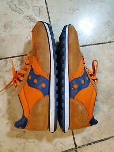 Saucony Men's Jazz Low Pro Orange Blue Sneakers Shoes Size 10 (US)
