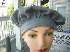 Handmade Scottish Tam Hat Outlander Highlander gray flannel