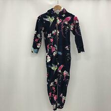 Baker Ted Baker One Piece Age 8-9 Years Navy Blue Floral Fleece Nightwear 300817