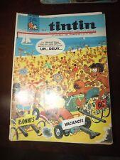 le journal de TINTIN N°929 de 1966 - BONNES VACANCES