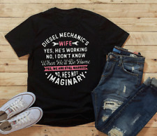 Diesel Mechanics Wife Shirt Yes He's Working Gift For Mechanics Wife S-5XL