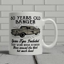 80th Birthday Mug Funny Banger Cheeky Gift Idea Husband Dad Father Happy 80