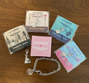 NEW LootCrate Sanrio Charm Bracelet Charms Hello Kitty My Melody Keroppi