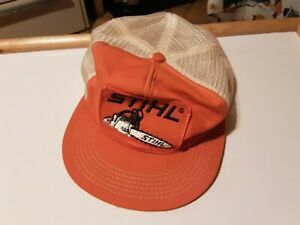 VINTAGE STIHL CHAINSAW MENS MESH HAT CAP SNAPBACK BY K-BRAND USA AS IS