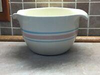 McCoy USA 2 Quart Kitchen Batter Mixing Bowl #129-Pink And Blue Stripes