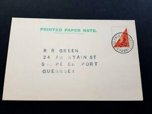 GUERNSEY-1941-2d GEORGE 6th BISECT ON VERY CLEAN P/CARD DATED 24-JA 1941