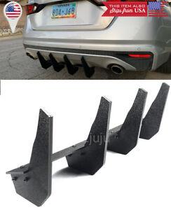 Rear Bumper Diffuser Valence Blade Shark Fin Extension For 19-up Nissan Altima