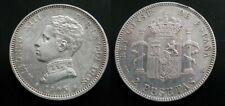 ALFONSO XIII , 2 PESETAS DE 1905 , ESTRELLAS 19 - 05  . PLATA