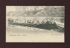 Sweden LEKSAND Kyrkbat i Dalelfven Rowing c1902 u/b PPC