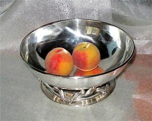 Carl Poul Petersen / Georg Jensen Canadian Sterling Silver Fruit Bowl 775 gr.