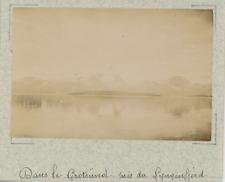 Norvège, dans le Grotsünd, près du fjord de Lyngen vintage albumen print,Photo