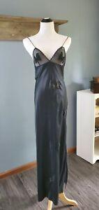 VTG Papillon Paula Carbone Neiman Marcus Black Sexy Nightgown Lingerie SZ M USA