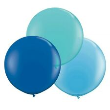 """Teal & Blue 24""""/2ft Big Giant Latex Balloons 3pk Party Decorations"""