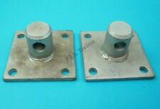 2 x Spare Mounting Plate Bracket Spigot Swivel Jack Leg Prop Stand Ifor Williams