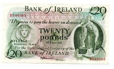 More details for ireland bank of ireland twenty pound / £20 note 1985 series d j harrison